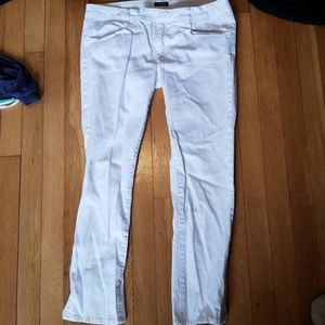 Kenneth Cole reaction skinny crop ankle zip jeans